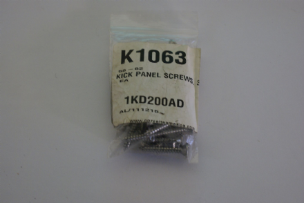 1958-1962 Corvette C1,Kick Panel Screws (32pc),New,Box C